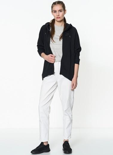 Kapüşonlu Fermuarlı Uzun Sweatshirt-Nike